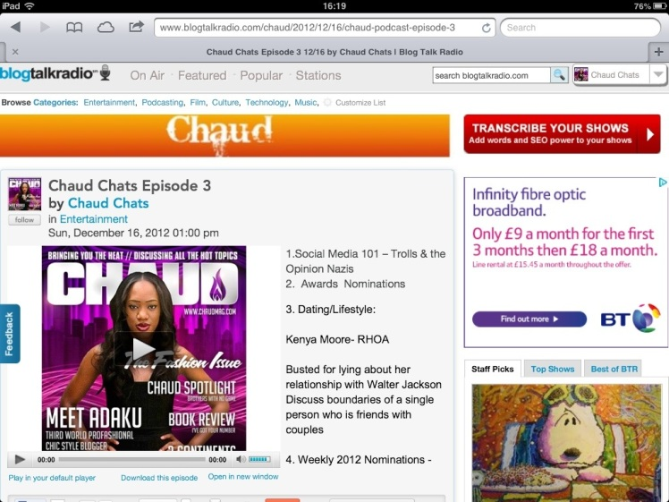 Chaud Podcast